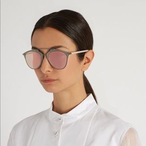 Dior Reflected gunmetal pink mirrored aviators
